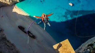 600 foot Insane Rope Swing!!! - in Greece!