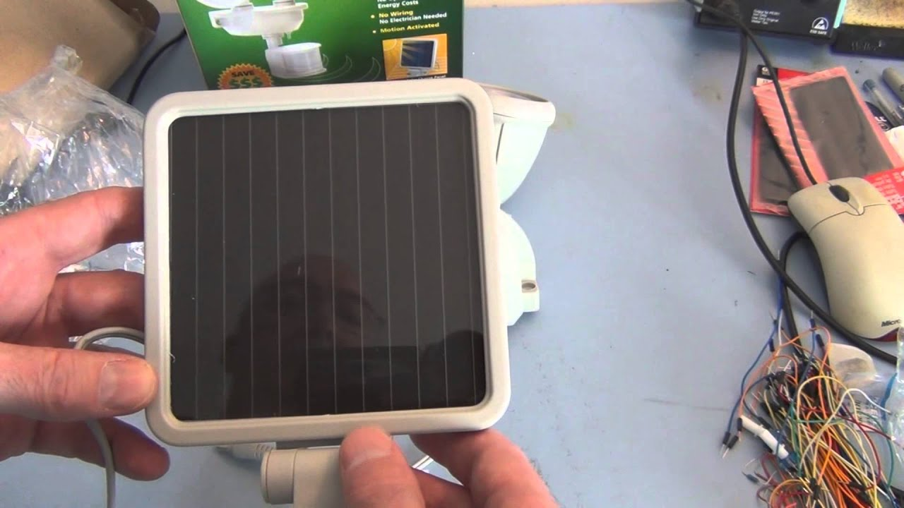 Solar Powered Security Light With Motion Sensor Installation Youtube Wiring A