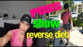 How To REVERSE DIET: Post Competition Program Diet, Training, Cardio !