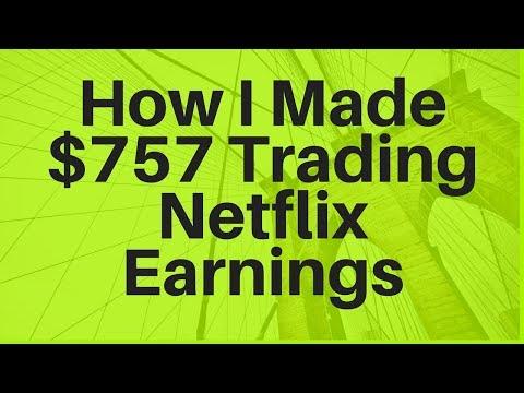 How I Made $757 Trading Netflix Earnings