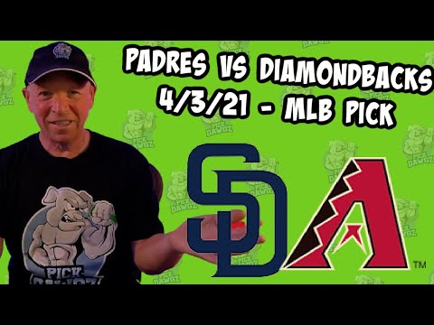 San Diego Padres vs Arizona Diamondbacks 4/3/21 MLB Pick and Prediction MLB Tips Betting Pick