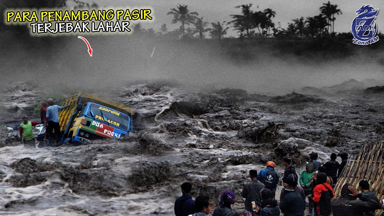 Semeru BERGEJOLAK.! Lahar Dingin & Gemuruh Tiba2 Datang Terjang Lokasi Tambang, Truk Warga Terjebak