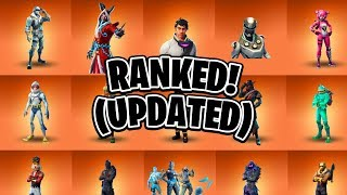 Ranking All Legendary Fortnite Skins In ONE Video (Updated) (Fortnite Skins Ranked)