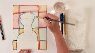 Kids Art Week - Lesson 6: Modigliani Portrait