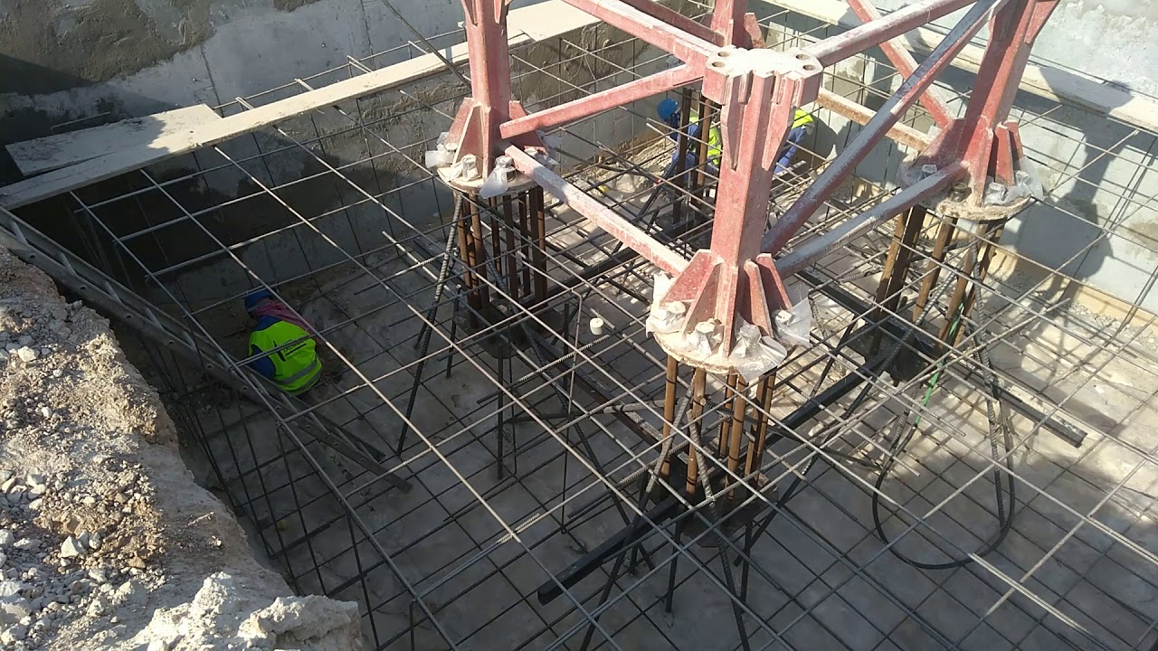 Tower crane foundation...