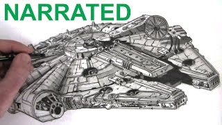 How to Draw the Star Wars Millennium Falcon: Narrated