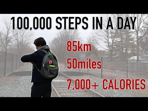 I tried walking 100,000 STEPS in a day and this is what happened... *BURNING 7,000+ CALORIES*