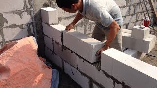 smart Technologies Construction Laying Brick Fastest Skill - Latest Modern Construct Building House