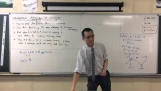 Geometrical Applications of Calculus (4 of 4: Using the derivative for stationary points of a graph)