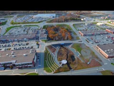 4 K - Dartmouth Crossing over Lake MicMac. Scotia Droning