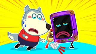 🔴L VE Oh No Talking Smartphone Got A Boo Boo Wolfoo Family Kids Cartoon
