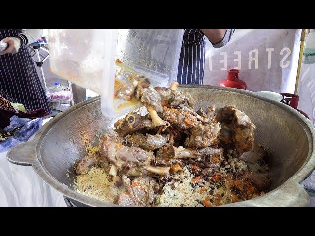 Lamb Leg, Food from Uzbekistan Tasted in London. Street Food