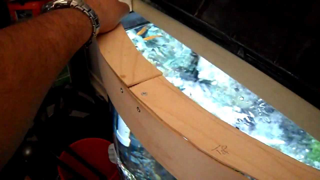 Bow fish tank hood modification DIY pt02 : bow front canopy - memphite.com