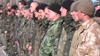 Украинских Солдат, Которые Держали Оборону Аэропорта Донецка Построили На Плацу
