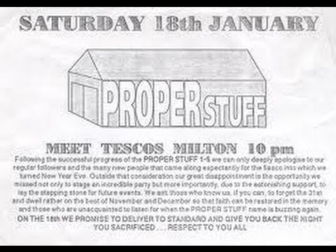 ProperStuff 5 - Queensway illegal Warehouse Party, Cambridge 28th December 1991 - Full Video