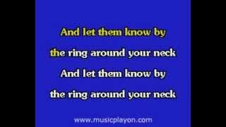 Elvis Presley karaoke  Wear My Ring Around Your Neck
