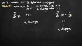 p-Series test for convergence (KristaKingMath)