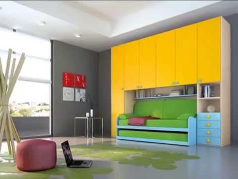 Camerette per bambini e ragazzi composizioni a ponte moderne youtube - Camerette bambini moderne ...