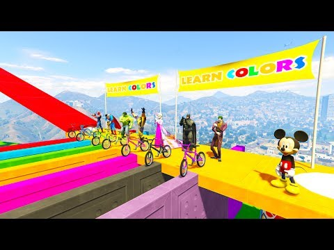 Thumbnail: LEARN COLOR BMX & BOATS for kids 3D animation Cartoon for babies