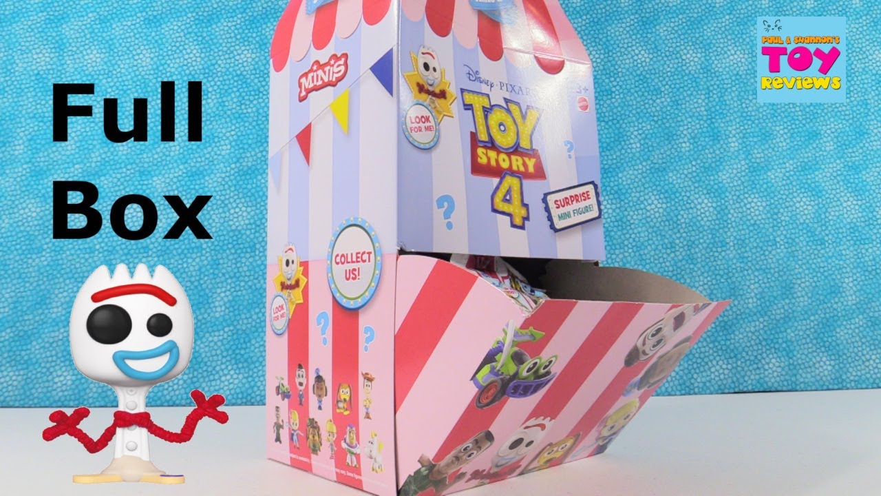 Disney Toy Story 4 Surprise Mini Figures Toy Unboxing Review | PSToyReviews