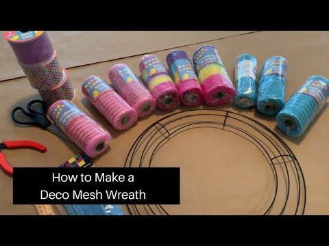 How To Make A Deco Mesh Wreath | Easter DIY | Dollar Tree DIY