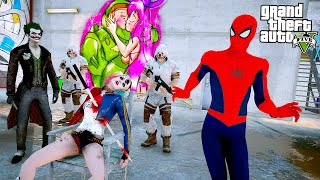 🕷️SPIDERMAN HARLEY QUINN'İ JOKER'İN ELİNDEN KURTARIYOR!😲 - GTA 5