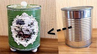 DIY/ Beautiful Tin Can Idea /Recycle Crafts