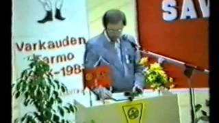 Tarmo 75v. Suuri urheilushow Liikuntatalolla La 7.11.1987 osa1