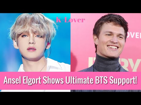 American actor Ansel Elgort uses a photo of BTS' V for his Twitter profile photo