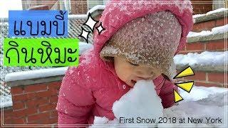 แบมบี้กินหิมะอร่อยเชียว First snow at New York 2018