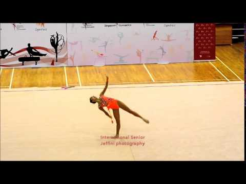 "Jeffini photography - 11th Singapore Rhythmic Gymnastics Open 2014  International Senior ""Clubs"""