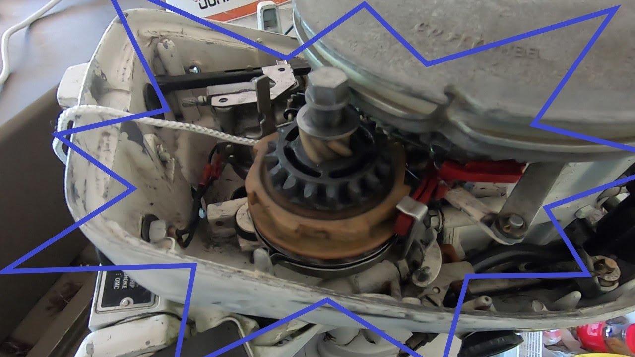 1979 Johnson 15hp Pull Start Repair