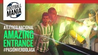 Atlético Nacional Amazing Entrance - #PasiónVerdolaga - Copa Sudamericana 2014 - Final