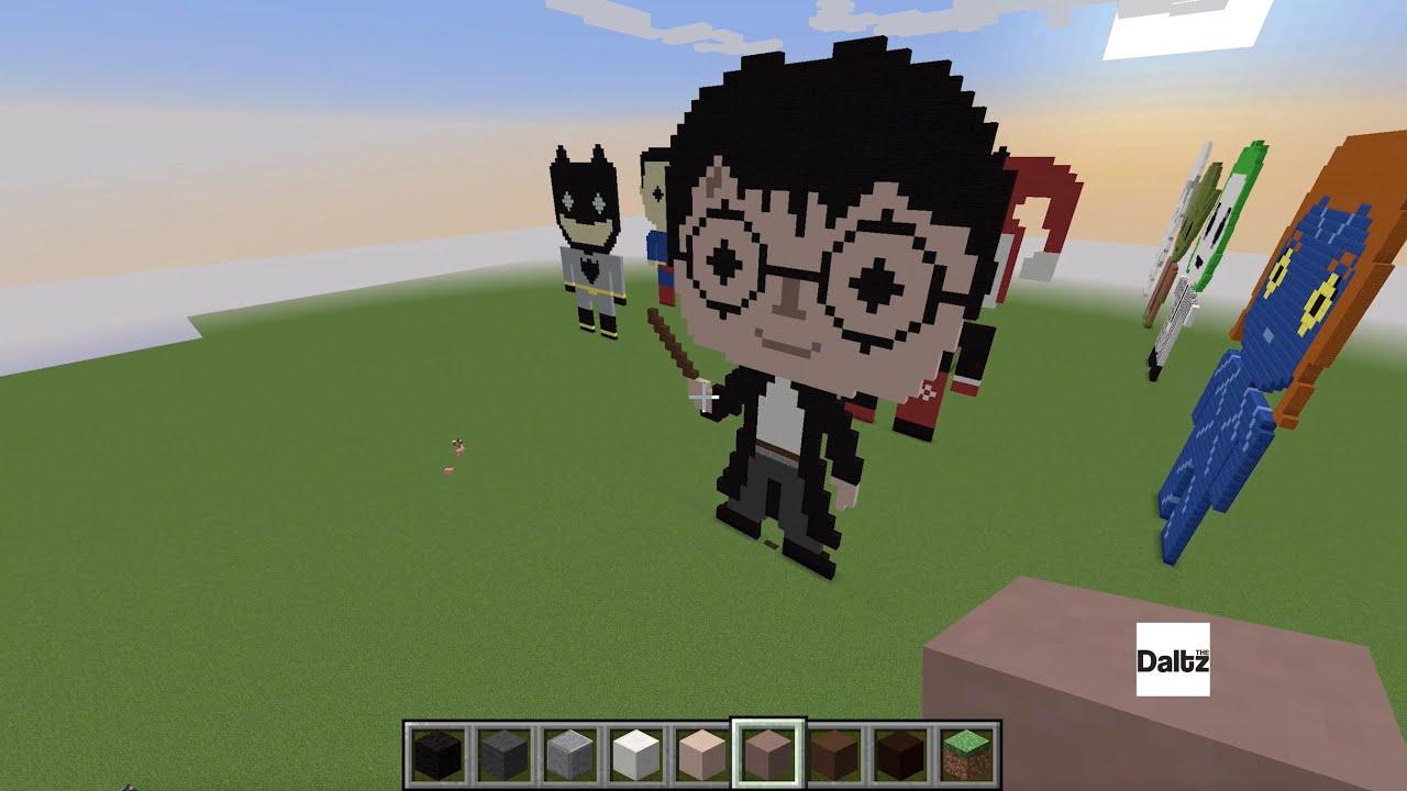 Minecraft Pixel Art   Harry Potter   YouTube