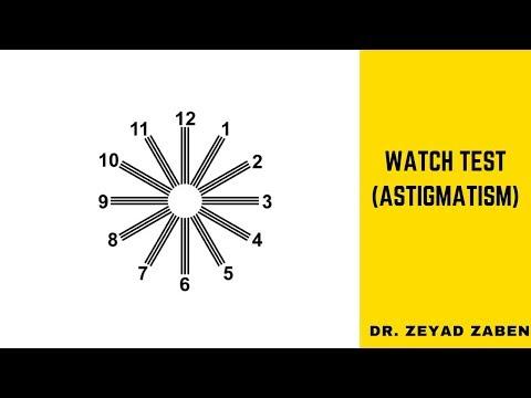 Watch Test (Astigmatism) تحديد محور الانحراف في العين