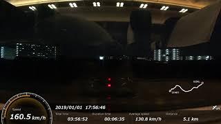 新幹線車窓 by アクションカム(高画質版) こだま678号(新大阪→東京、700系B編成グリーン車電動車)