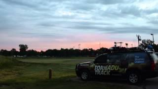 Tornado Track Sunset in Grand Island, NE