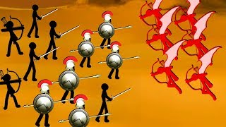 Crazy Flying Archers Fight our Stickman Army in Stick War 2: Order Empire!