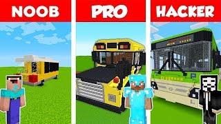 Minecraft Battle - NOOB vs PRO vs HACKER : BUS in Minecraft : AVM SHORTS Animation