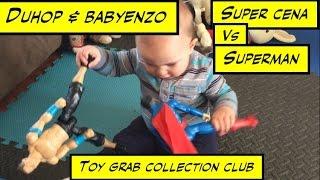 Duhop BABY ENZO ACTION FIGURE SUPERMAN VS SUPER CENA TOY GRAB COLLECTION CLUB