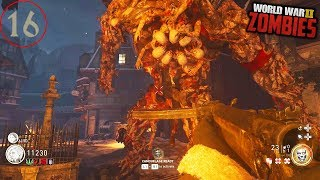 WW2 ZOMBIES - ROUND 16 SAVING KLAUS EASTER EGG BOSS! (Call of Duty WW2 Zombies)