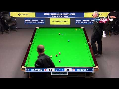 Snooker.Lisbon Open 2014. Hawkins-Norbury