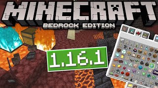 Minecraft Bedrock - 1.16.1 UPDATE OUT NOW! Netherite Burn+Fixes[ Change Log ] PS4/MCPE/Xbox/Windows