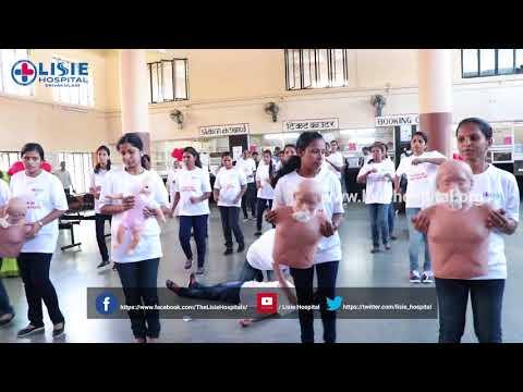 Lisie Hospital Staff Nurses Flash Mob @ Ernakulam Railway Station
