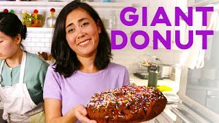 Lo Makes A Giant Donut The Size Of 24 Regular Ones | Whoa Lo