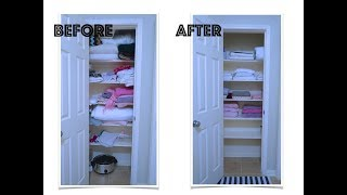 LINEN CLOSET CLEAN OUT AND ORGANIZATION