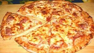 пицца по домашнему из готовой заготовки для пиццы