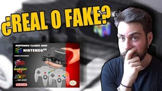 Nintendo 64 MINI se acerca ¿Real o Fake?   FAKE FIJO   Problemas?