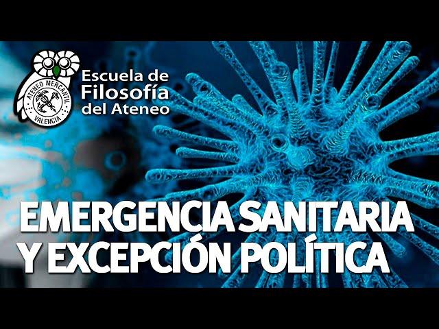 Webinar Filosofía - Emergencia sanitaria y excepción política