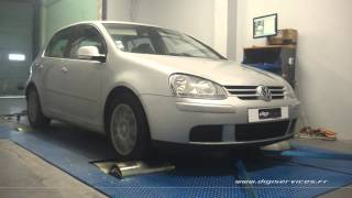 VW Golf 5 tdi 105cv Reprogrammation Moteur @ 140cv Digiservices Paris 77 Dyno